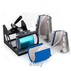 8 in 1 Heat Press Machine 12X15 Swing Away Transfer Sublimation T-Shirt Mug Hat