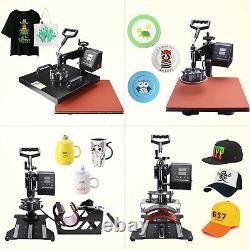 8 in 1 Heat Press Machine 15x15 Digital Transfer Sublimation T-Shirt Mug Hat