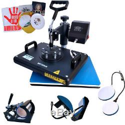 8 in 1 Heat Press Machine Digital Transfer Sublimation for DIY T-shirt Mugs Hats