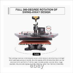 8 in 1 Heat Press Machine Digital Transfer Sublimation for T-Shirt Cap Hat Mug