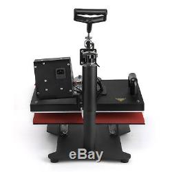 8 in 1 Heat Press Machine For T-Shirts 12x15 Combo Kit Sublimation Swing away