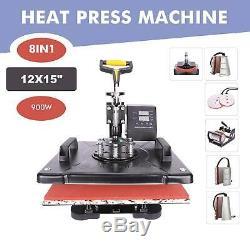8 in 1 Heat Press Machine Swing Away Digital Sublimation T-shirt / Mug Plate Hat