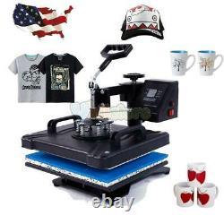 8 in 1 New Heat Press Machine Transfer Sublimation T-Shirt Mug Plate Cap Hat US