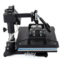 8 in 1 T-Shirt Heat Press Machine 12X15 Sublimation Combo Kit Swing away