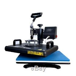8in1 12x15 Heat Press Machine Sublimation Swing away for T-Shirts Mug Plate US