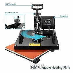 8in1 15x15 Heat Press Machine Swing Away Printing transfer for T-shirt Mug Cup