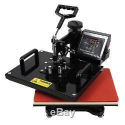 8in1 15x15 Heat Press Machine Transfer Sublimation Cap T-Shirt Hat Printing