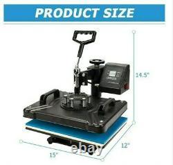 8in1 3038CM Combo Heat press Machine Sublimation Printer for tshirt/mug/case