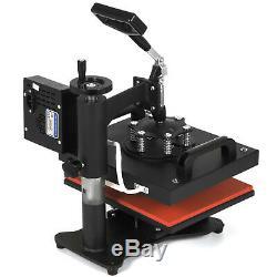 8in1 Combo T-Shirt Heat Press Machine Clamshell DIY Printer Transfer 12X10