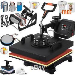 8in1 Combo T-Shirt Heat Press Machine Clamshell DIY Printer Transfer 12X15