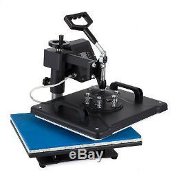 8in1 Heat Press Transfer Machine 15''x12'' Sublimation Printer Mug T-shirt Cap