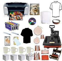 8in1 Pro Sublimation Heat Press, Printer, Refil, Heat Transfer Tshirt, Mug, Plate Hat
