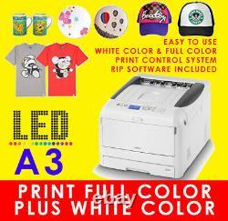 A3 OKI Dark Digital T-Shirt Printer, Use with Heat Press Machine, VIDEX V300 V800