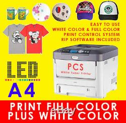 A4 White Toner TShirt Printer, Use with Heat Press Transfer Machine, as Uninet 500