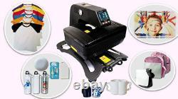 Auto Open Pneumatic 3D Sublimation Heat Press Machine T shirts Phone Case + Gift