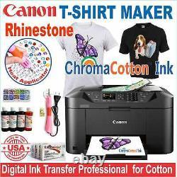Canon Printer Machine Heat Transfer Ink X Cotton T-shirt + Rhinestone Starter