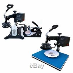 Combo 5 in 1 Kits Heat Press Machine Transfer 12inx15in for T-shirt Mug Cup Hat