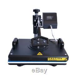 Combo 5in1 12x15 Heat Press Swing Away Digital Sublimation Machine T-shirt US