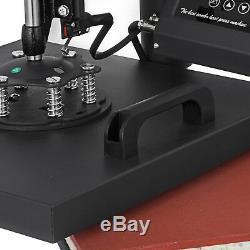 Digital 15X15 Transfer Heat Press Machine Sublimation T-Shirt Cap Swing-away