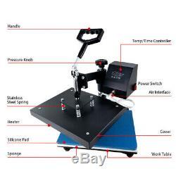 Digital Heat Press Machine 360 Swing Away 9X12Printing Transfer DIY T-Shirt US