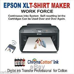 Digital Heat Press Transfer T-shirt Print Sublimation Machine++printer Epson XL