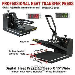 Epson Wf-xl Printer Plus Heat Press Transfer T-shirt Maker Complete Start Kit