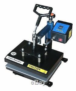 Fancierstudio Power Heat Press Swing Away Heat Press T Shirt Press 9x12 Blue