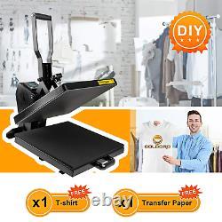 GOLDORO 15X15 Digital Clamshell T-shirt Heat Press Machine Sublimation Transfer