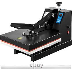 Heat Press 15X15 Digital Clamshell Sublimation Transfer Machine T-shirt 1400W