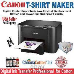 Heat Press 15 X15 Transfer Sublimation + Canon Printer T-shirt Print Start Kit