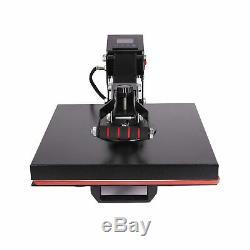 Heat Press 15x15 Clamshell Design Digital LCD Timer T Shirt Printing Machine