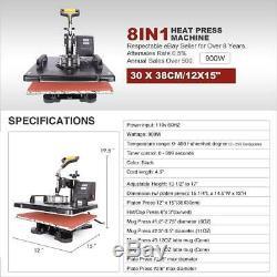 Heat Press Machine Digital Transfer Sublimation For Mug Cap Hat T-Shirt Plate