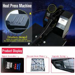 Heat Press Machine Transfer 15x15 Digital Board for T-Shirt Plate Sublimate US