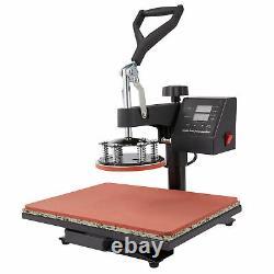 Heat Press Transfer Digital Machine 12x15 T-Shirt Mug Plate Cap 5 in 1 for Hat