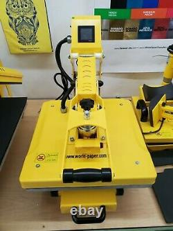 Heat press machine 15 x 15 Clam Shell AUTO OPEN, For T Shirts and Flat Elements