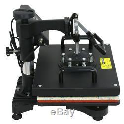New 5in1 Heat press Machine Transfer sublimation T-Shirt Hat Mug Cap 12x15