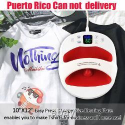 Portable T-Shirt Heat Press Machine Mat Sublimation Printer DIY 12×10