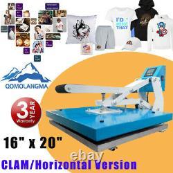 QOMOLANGMA 20x16 Auto Open T-shirt Heat Press Machine Horizontal Version 1600W