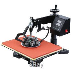 Ridgeyard 1000W 5in1 Combo Heat Press Machine Sublimation T-shirt Mug Plate Hat