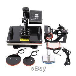 Ridgeyard 5In1/8 In1 15x12 /15x15 Digital Transfer T-Shirt Heat Press Machine