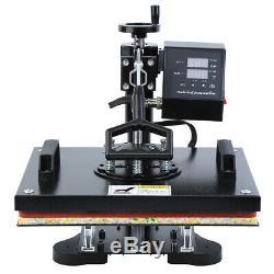 Ridgeyard 5 In 1 Combo Digital Heat Press Trandfer Machine T-Shirt/Mug/Plate/Hat