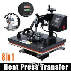 Ridgeyard 8 In 1 Combo Digital Heat Press Trandfer Machine T-Shirt/Mug/Plate/Hat