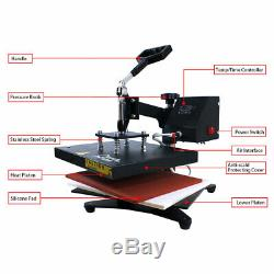 SWING AWAY Heat Press Machine 912in Sublimation for T-shirt Printing Cloth US