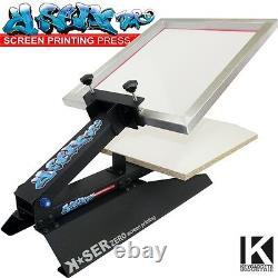 Screen Printing Kit Frame Squeegee Emulsion Exposure set machine T-shirt press