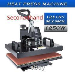 Secondhand Heat Press Machine 360° Swing Digital Sublimation T-Shirt Pad 12X15