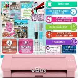 Silhouette Blush Pink Cameo 4 Heat Press T-Shirt Bundle with 15 x 15 Heat Press