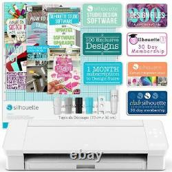 Silhouette White Cameo 4 Heat Press T-Shirt Business Bundle with Heat Press, HTV