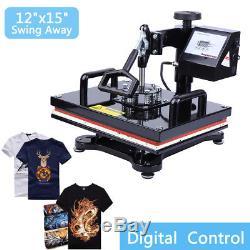 Swing Away Digital Heat Press Photo T-shirt Transfer Machine 110V 15x12