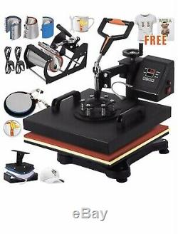 T shirt printing machines Kit Printer Heat Press8 On 1 Printer+heat press+