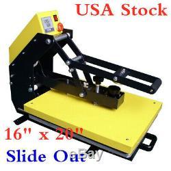USA! 16x20 110V Auto Open T-shirt TRANSFER Heat Press Machine +Slide Out